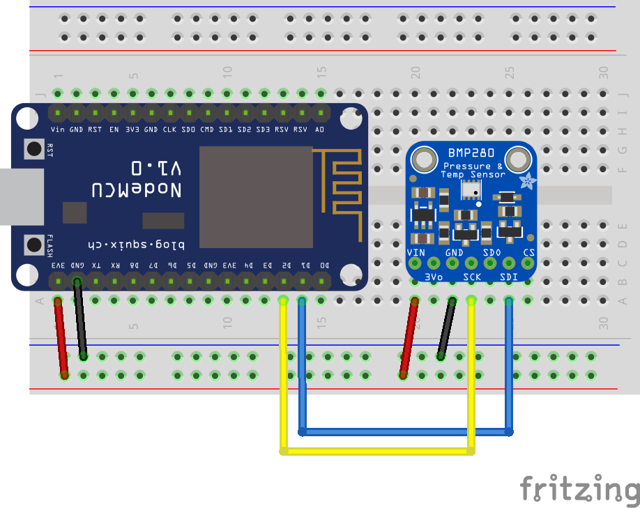 breadboard layout